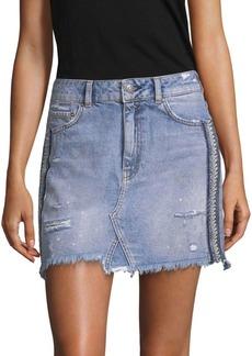 Free People Embellished Denim Skirt