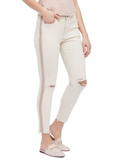 Free People Embellished Skinny Jeans (Ivory)