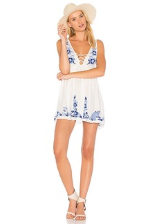 Free People Embroidered Aida Slip in White. - size L (also in M)
