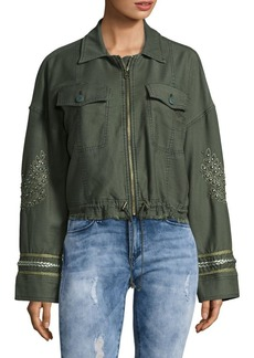 Free People Embroidered Military Jacket