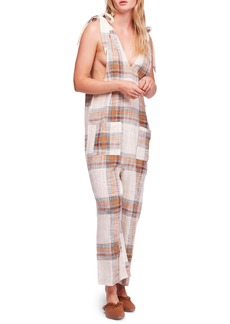 Free People Endless Summer Plaid Jumpsuit