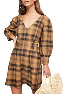 Free People English Rose Plaid Minidress