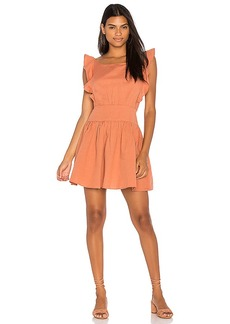 Free People Erin Mini Dress in Peach. - size M (also in S,XS)