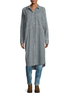 FREE PEOPLE Faded in the Morning Striped Shirt Dress
