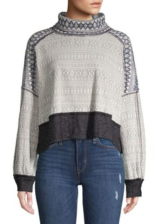 Free People Fair Isle Cropped Sweater