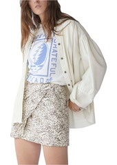 Free People Fake Out Leopard Print Faux Leather Skirt