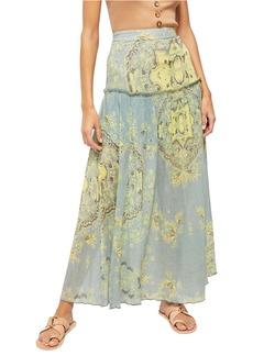 Free People Farrah Drop Waist Maxi Skirt