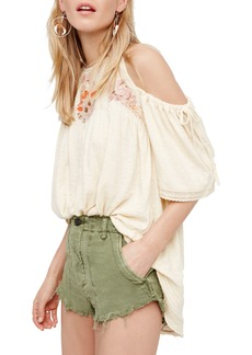 Free People Fast Times Cold Shoulder Top