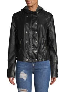 Free People New Dawn Vegan Leather Jacket