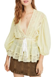 Free People Favorite Romance Crochet Inset Tunic