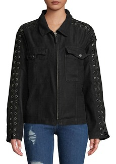 Free People Faye Collared Cotton Jacket
