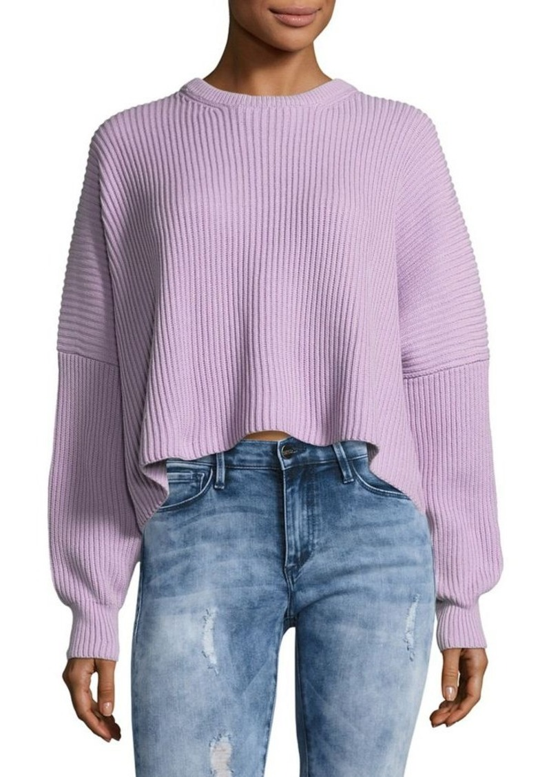 Free People Free People Festival Pier Pullover Slouch Cropped ...