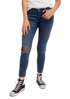 Free People Fishnet Skinny Jeans