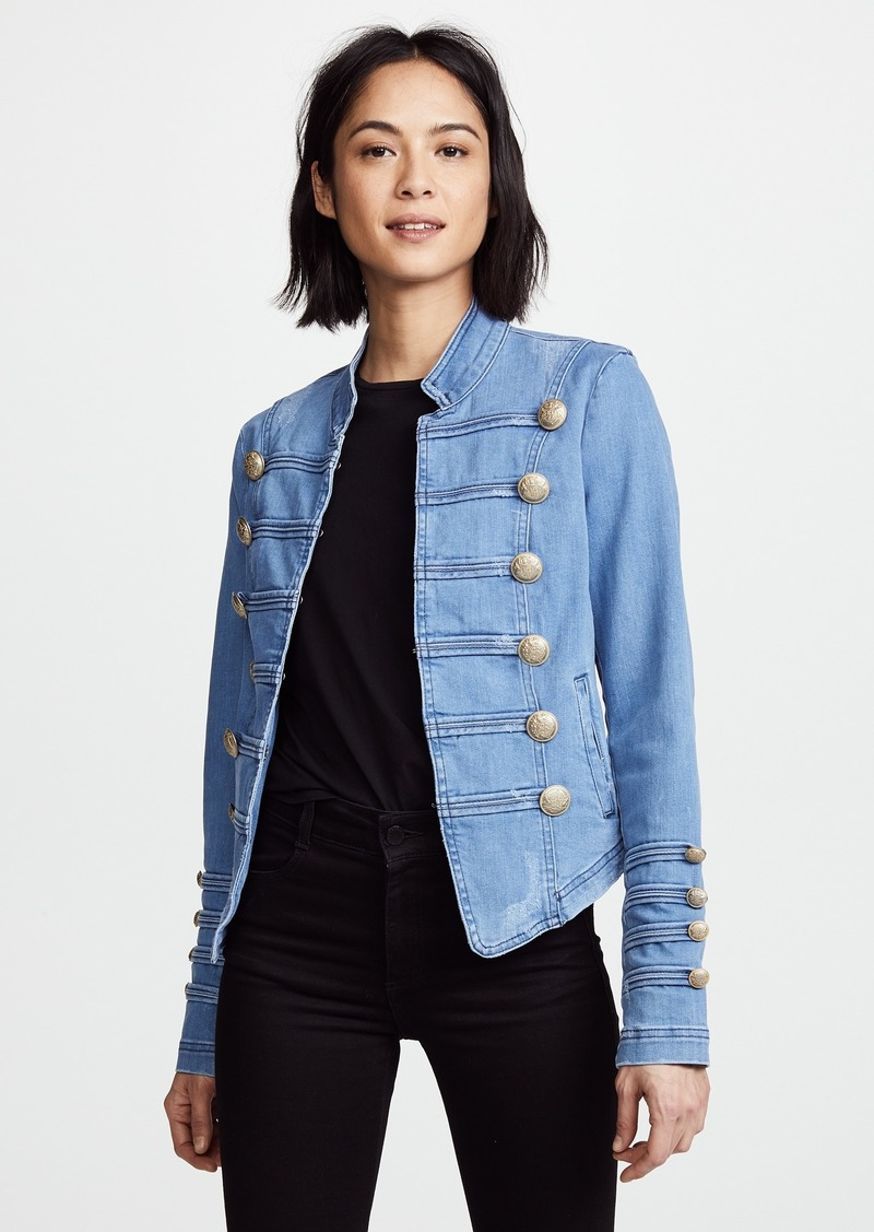 b2fc6160a25 Free People Free People Fitted Military Denim Jacket