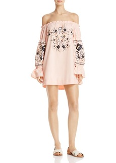 Free People Fleur Du Jour Off-the-Shoulder Dress
