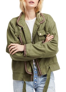 Free People Flight Line Bomber Jacket