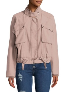 Free People Flight Line Cotton Bomber Jacket