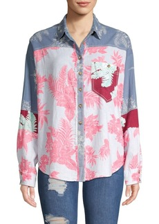 Free People Chasing Waves Button-Down Shirt