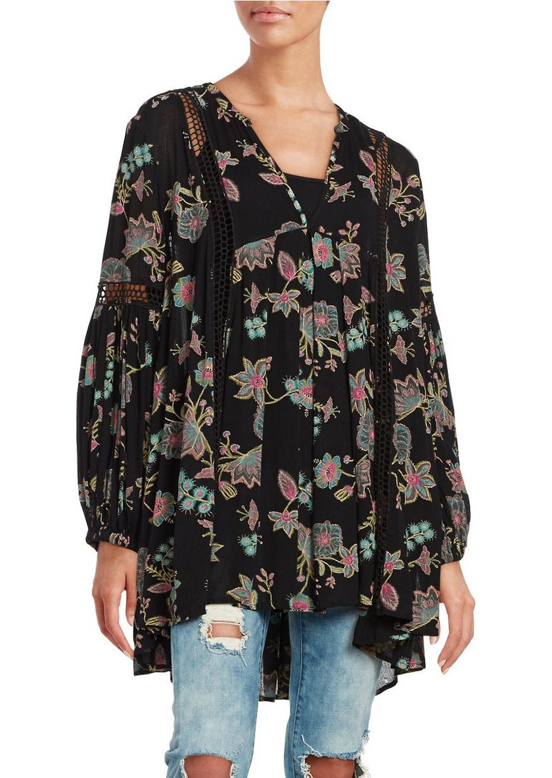 8da209d439e Free People FREE PEOPLE Just the Two of Us Floral Printed Tunic ...
