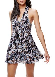 Free People Floral Print Minidress