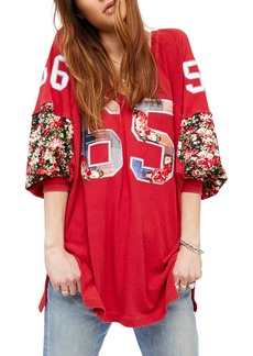 Free People Flower Bomb Appliqué Top