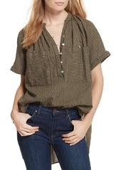 Free People For Keeps Linen Blend Top