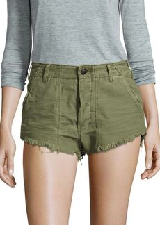 Free People Four-Pocket Denim Cut-Off Shorts