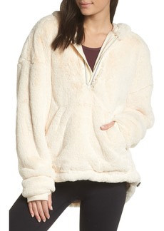Free People FP Movement Off the Record Soft Fleece Hoodie
