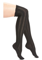 Free People 'Fray' Openwork Knit Over the Knee Socks