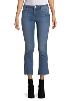 Free People Frayed-Cuffs Cropped Jeans
