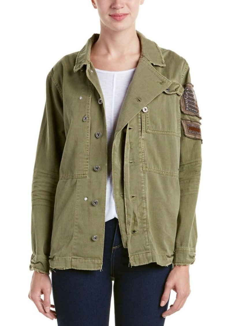 Free People Free People Embellished Military...