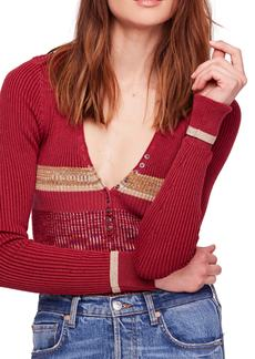 Free People Frequency Ribbed Sweater