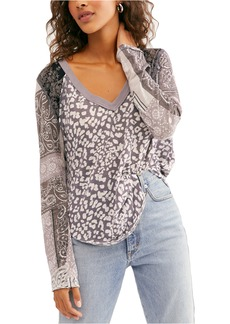 Free People Friday Night Contrast Sleeve T-Shirt
