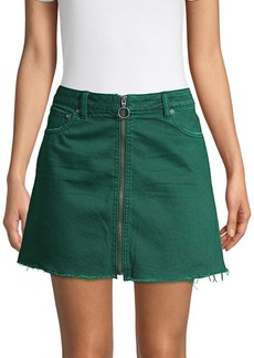 Free People Front Zip Mini Skirt