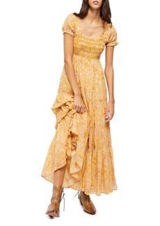 Free People Getaway Floral Tiered Maxi Dress