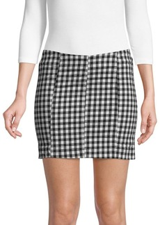 Free People Gingham Bodycon Skirt