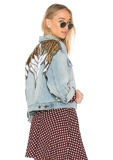 Free People Glam Embellished Denim Jacket. - size L (also in M,S,XS)