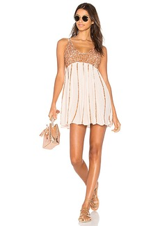 Free People Glitter Girl Slip in Blush. - size L (also in M,S,XS)