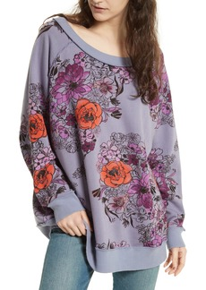 Free People Go On Floral Pullover