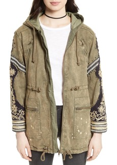 Free People Golden Quills Cargo Jacket