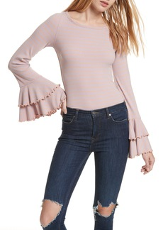 Free People Good Find Ruffle Cuff Tee