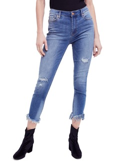 Free People Great Heights Frayed Skinny Jeans (Sky)