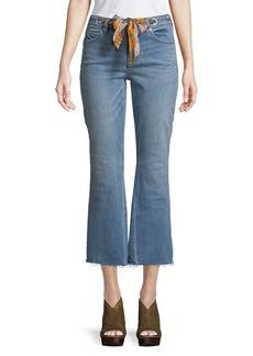 Free People Grommet-Tie Cropped Jeans