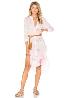 Free People Happiest Morning Button Down Dress in Pink. - size L (also in M,S,XS)