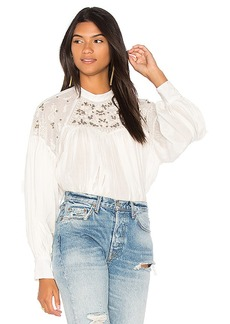 Free People Have It My Way Embroidered Top in White. - size L (also in M,S,XS)