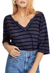 Free People Head In The Clouds Striped Tee