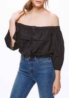 Free People Head Over Heels Off the Shoulder Blouse