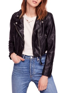 Free People Heartache Moto Jacket
