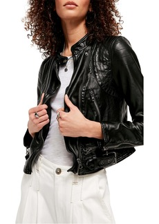 Free People Heartbreaker Faux Leather Moto Jacket