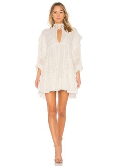 Free People Heartbreaker Mini Dress in White. - size L (also in M,S,XS)